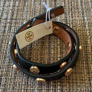 BNWT Tory Burch Double Wrap Stud Bracelet